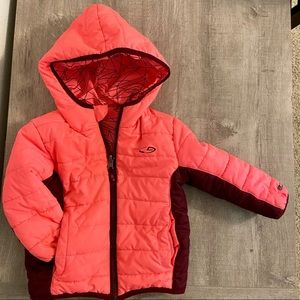 Hooded down baby girls jacket 12-24 months usage